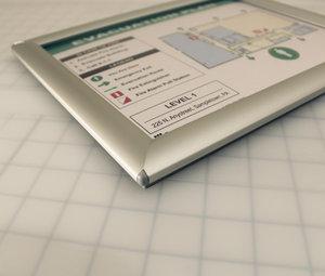 Evacdisplays Building Evacuation Plan Holder With