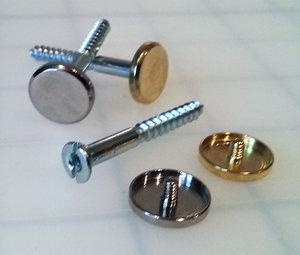 evacdisplays sign fastening hardware decorative metal cap and matching screw - Decorative Screws