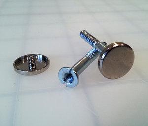 sign fastening hardware decorative metal cap and matching screw - Decorative Screws
