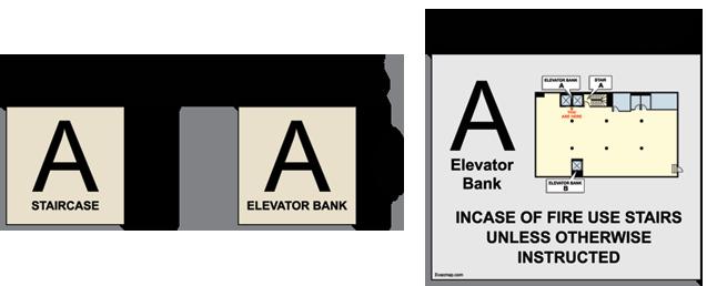 EvacDisplays New York City building evacuation maps elevator – Site Safety Plan Nyc Dob