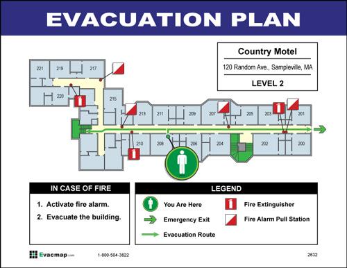 EvacDisplays Hotel And Motel Building Evacuation Maps