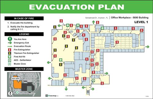 evacdisplays manufacturing plant large facility evacuation