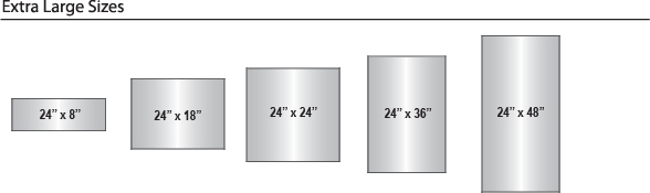 Curve Frame Sizes - Extra Large
