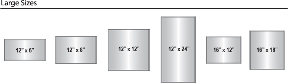 Curve Frame Sizes - Large