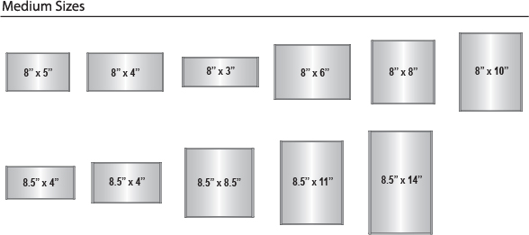 Curve Frame Sizes - Medium