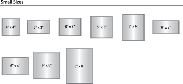 Curve frame sizes - small